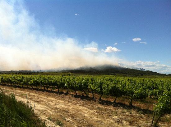 Incendie sur la commune de Calvisson…