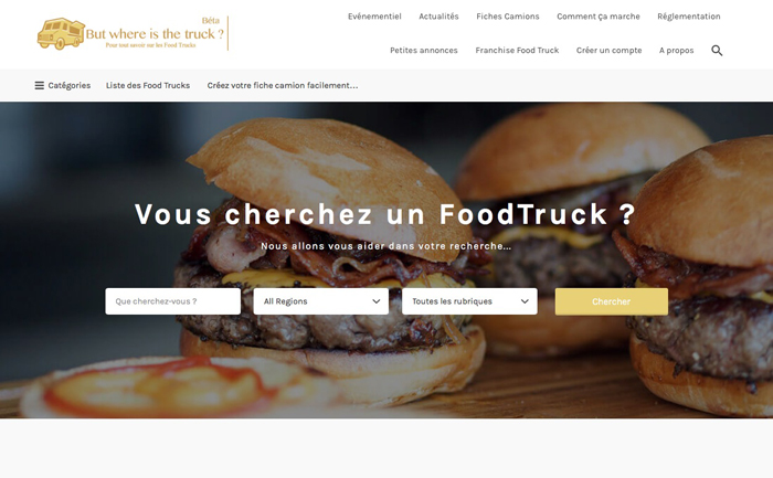 Nouveau projet – Où trouver un Food Truck – But where is the truck ?