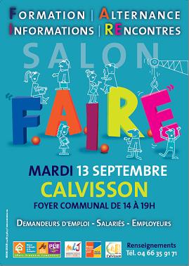 La formation au service des entreprises – salon le 13 septembre à Calvisson