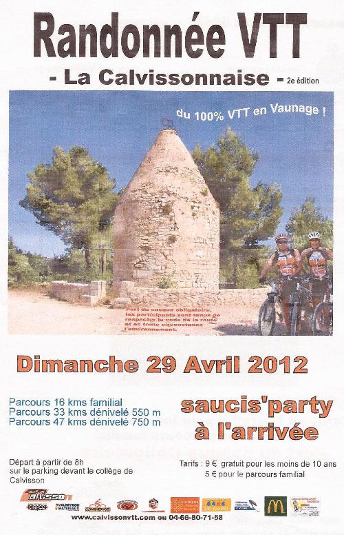 Rando VTT – La Calvissonnaise – 29 avril 2012